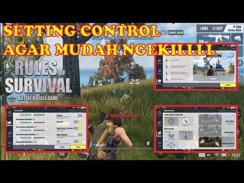 TIPS SETTING CONTROL AGAR MUDAH NGEKIL : RULES OF SURVIVAL INDONESIA
