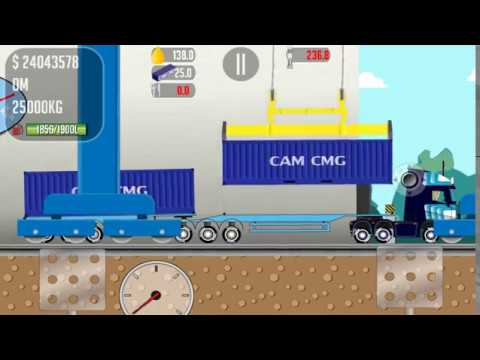 The game Trucker Joe is transporting the container to the launch pad