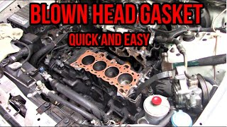 How to Replace a Head Gasket    1994 Honda Civic DX