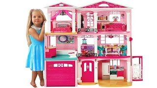 Дом куклы Барби - Самая большая Игрушка Барби на Kids Diana Show / Barbie Doll House