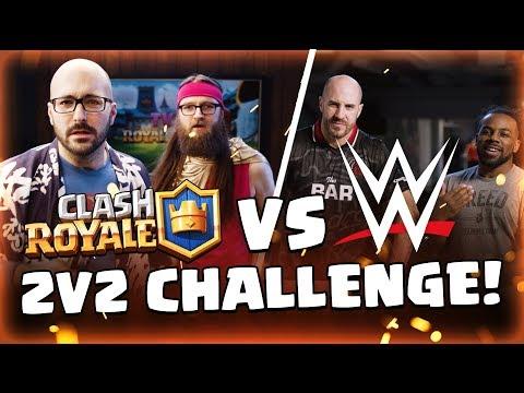 WWE Superstars 💪 VS Clash Royale Dev Team 🤓 (Cesaro & Xavier Woods)