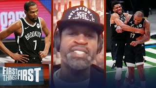 If Nets were healthy, we wouldn't be talking about Bucks — Stephen Jackson | FIRST THINGS FIRST