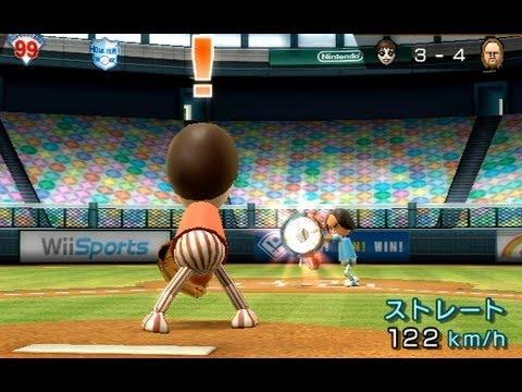 懐かしのwii sportsの野球やってみた!