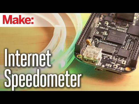This DIY Internet Speedometer Visualises Network Speed In Real Time