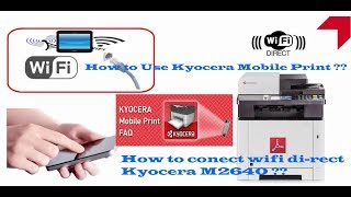 kyocera M2640 conect to  wifi