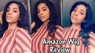 Amazon wig review | SUNBER lace frontal wig 100% virgin Brazilian human hair| Only $73😱