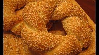 Смотреть онлайн Рецепт турецких бубликов из дрожжевого теста