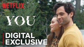 Penn Badgley and the cast of You Season 2 prank Victoria Pedretti | Netflix