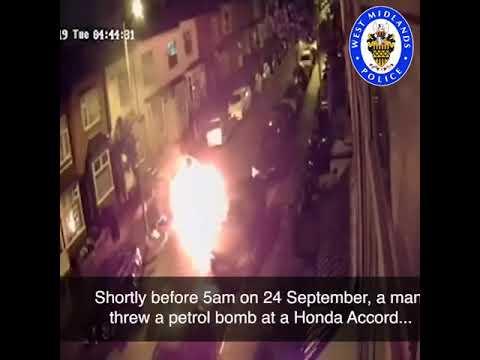 Arsonist hurls homemade petrol bomb at cars in residential street