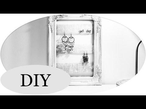 """DIY Schmuckständer! Bilderrahmen als """"jewelry organizer"""""""