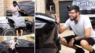 Will It Crush? That is the question! | Tesla Model X Falcon Wing Doors Part 1/2