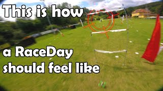 RaceDay adventures with the DDAIR FPV Racing Team / Cinewhoop vs. FPV Racing vol. 3