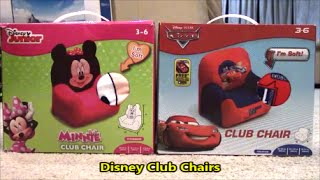 Disney Cars And Minnie Mouse Club Chairs