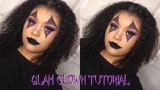 Halloween Makeup Easy Clown.Easy Glam Clown Halloween Makeup Tutorial म फ त