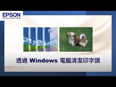 透過 Windows 電腦清潔印字頭