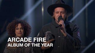 Arcade Fire win Album of the Year   Juno Awards 2018