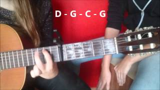 How To Play UB40   RED RED WINE On GUITAR EASY TUTORIAL CAJON