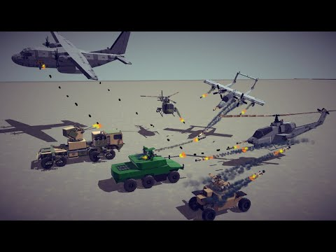 Attack Aircrafts vs Armored Vehicles #2   Besiege