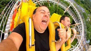 Riding BACKWARDS on this INSANE Roller Coaster in Japan! ローラーコースター