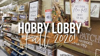FALL Shop With Me 2020! HOBBY LOBBY Fall Decor!