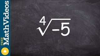 Take the even root of a negative number