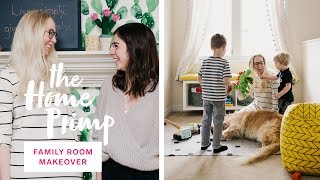 Junk Room Turned Cozy, Bright Family Room Makeover | Living Room Ideas | The Home Primp