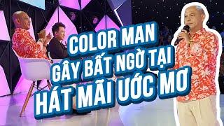 Trấn Thành té ghế khi Color Man xuất hiện tại buổi ghi hình Hát Mãi Ước Mơ mùa 3