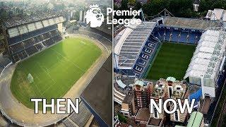 Premier League Stadiums Then & Now
