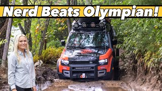 I Can't Believe We Beat Lindsey Vonn (An Olympian) In a Land Rover Defender Off-Road Competition!