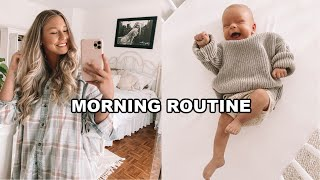 SUPER REALISTIC MORNING ROUTINE WITH A NEWBORN!