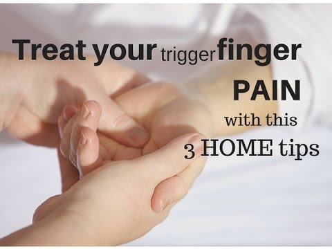 Video Trigger finger pain exercises