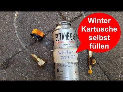 ★ Gaskartusche mit 30% Propan selber befüllen - winterfest ↓★↓