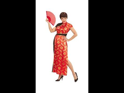Köp Röd asiatisk klänning Här Snabb Leverans Temashop.se
