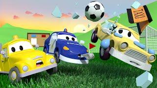 малыши в Автомобильном Городе - Малыши играют в ФУТБОЛ - детский мультфильм