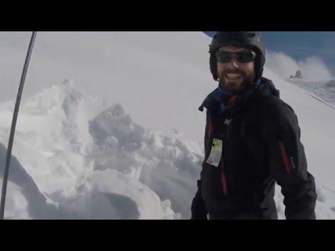 Test estabilidad del manto de nieve.