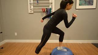 Ankle Sprain:  Bosu Ball Knee Highs