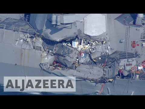 Sailors missing after US navy ship collision