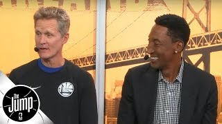 Steve Kerr and Scottie Pippen reminisce on Phil Jackson's 'unique' film session tactics | The Jump