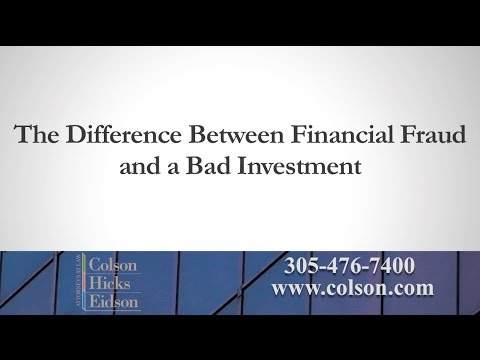 The Difference Between Financial Fraud and a Bad Investment