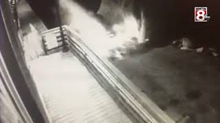 VIDEO: Driver escapes after truck rolls into ocean