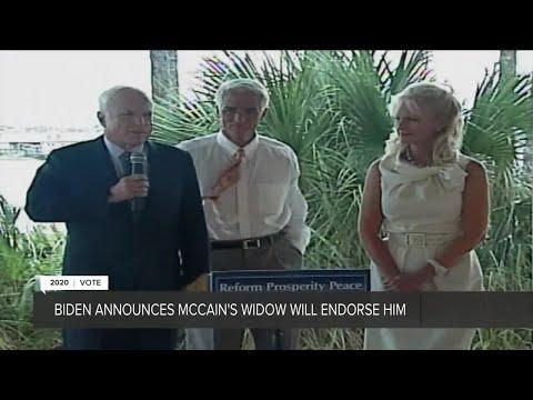 Cindy McCain, John McCain's widow, endorses Joe Biden