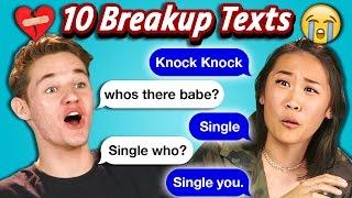 TEENS READ 10 BREAKUP TEXTS (React)