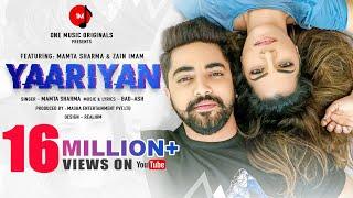 YAARIYAN | Mamta Sharma | Zain Imam | BadAsh | New Hindi Song 2020