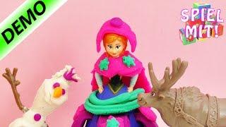 Disney Frozen Playdoh demo Olafselber machen und Anna aus Glitzer-Knete