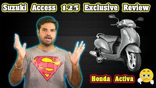 SUZUKI ACCESS 125 SCOOTER EXCLUSIVE REVIEW !!! Honda Vs Suzuki அதிரடியான போட்டி