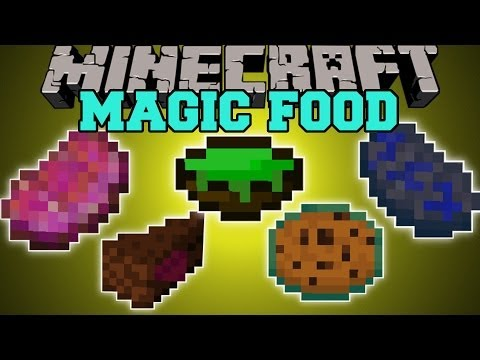 Minecraft: MAGIC FOOD (TONS OF FOOD WITH MAGICAL POTION EFFECTS!) Mod Showcase
