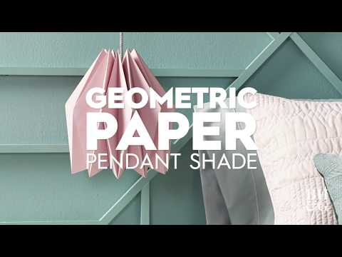 Geometric Paper Pendant | Made by Me - Home | Better Homes & Gardens