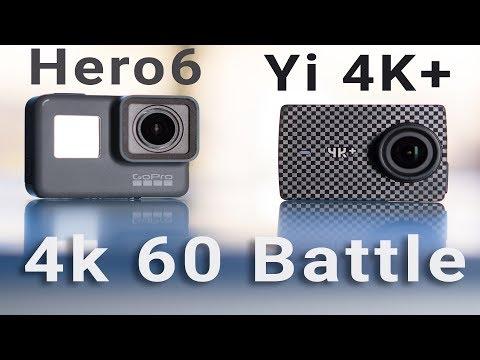 GoPro Hero6 vs Yi 4K+ 60fps Action Camera Comparison