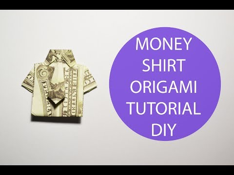 Money Shirt Origami Dollar Dress Tutorial DIY