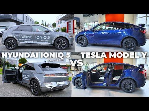 New Tesla Model Y VS Hyundai Ioniq 5 2022